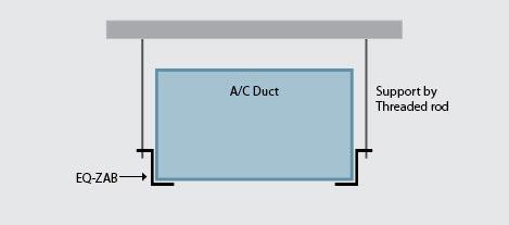 EQ-ZAB Air Conditioning Duct Bracket   EzyStrut