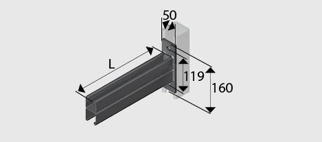 Cb254 cantilever bracket hdg ezystrut for Cantilever counter support