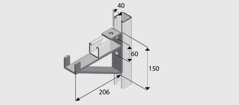 E1075-8 Cantilever Bracket HDG | EzyStrut