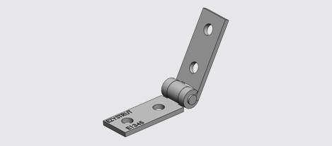 E1345 Adjustable Hinge Bracket HDG