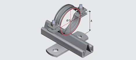 E140 Light Duty Slide Guide for Steel Pipe HDG