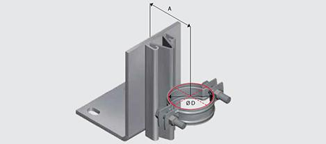 E190 Floor Mounted Riser Guide for Steel Pipe HDG