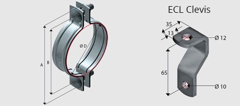 E6 Two Piece Pipe Clamp for PVC Pipe PW | EzyStrut