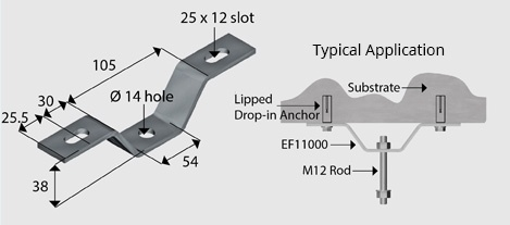 EF11000 'U' Bracket Beam Attachment HDG