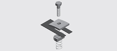 NEMA 1 Aluminium Hold Down Bracket