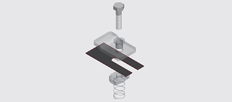 NEMA 1 Aluminium Hold Down Guide