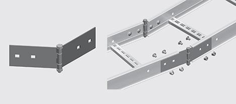 Nema 1 Cable Ladder Horizontal Splice Alm Ezystrut