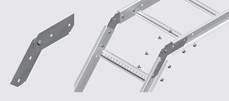 Nema 2 Cable Ladder Vertical Splice Plate Hdg Ezystrut