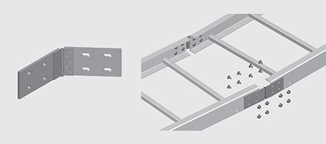 Nema 2 Frp Cable Ladder Horizontal Splice Plate Ezystrut