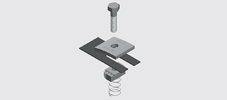Aluminium Hold Down Bracket
