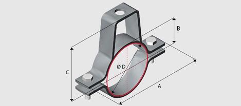 E8y Yoke Clamp For Steel Pipe Hdg Ezystrut