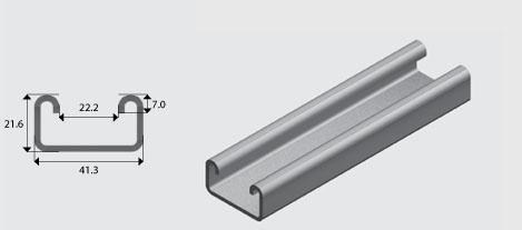 E3300 41x21mm Channel/Strut G | EzyStrut
