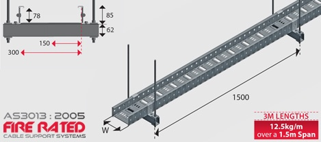 FR12 AS3013:2005 Fire Rated Cable Tray G