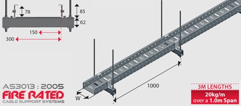 Fr20 As3013 2005 Fire Rated Cable Tray Hdg Ezystrut