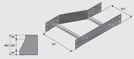 Nema 3 Cable Ladder Right Hand Reducer Hdg Ezystrut