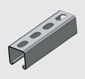 E1000S 41x41mm Slotted Channel