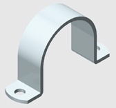 E15 Medium Duty Saddle Clamp for PVC Pipe