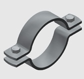 E16 Two Piece Pipe Clamps