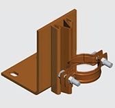 E190 Floor Mounted Riser Guide for Copper Pipe
