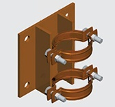 E191A Wall Mounted Anchor for Copper Pipe