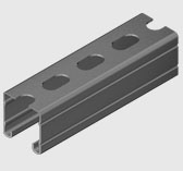 E2000S 41x41mm Slotted Ribbed Channel