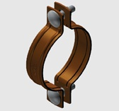 E6 Two Piece Pipe Clamp for Copper Pipe