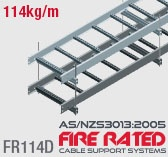 FR114D Double Stacked Fire Rated Cable Ladder