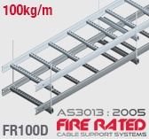 FR100D Double Stacked Fire Rated Cable Ladder