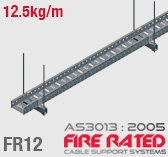 FR12 ET5 AS/NZS303:2005 Fire Rated Cable Tray