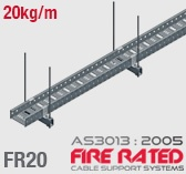 FR20 ET5 AS/NZS303:2005 Fire Rated Cable Tray