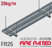 FR25 ET5 AS/NZS303:2005 Fire Rated Cable Tray