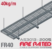 FR40 ET5 AS/NZS303:2005 Fire Rated Cable Tray