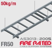 FR50 AS/NZS3013:2005 Fire Rated Cable Ladder
