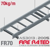 FR70 AS/NZS3013:2005 Fire Rated Cable Ladder